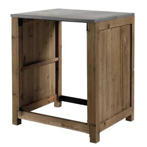 Mobile da cucina in pino riciclato per lavastoviglie 74 cm ...