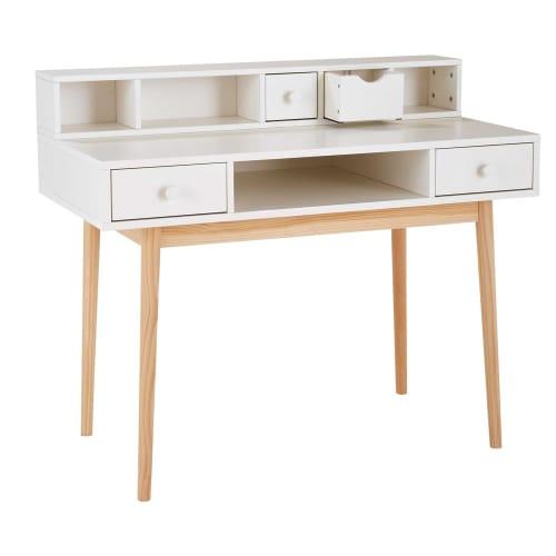 Modulo scaffali per scrivania a 2 cassetti bianco joy for Scaffale da scrivania