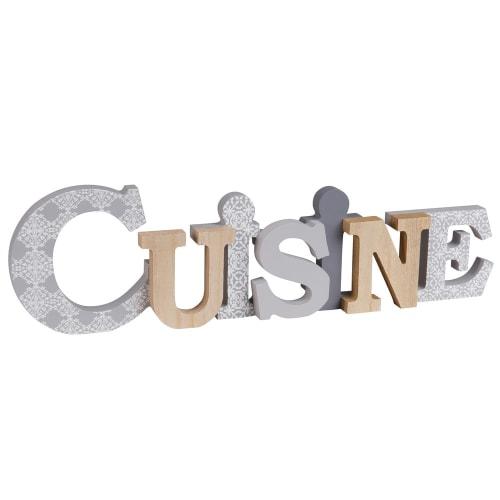 Mot Deco Murale A Motifs 44x13 Cuisine Maisons Du Monde