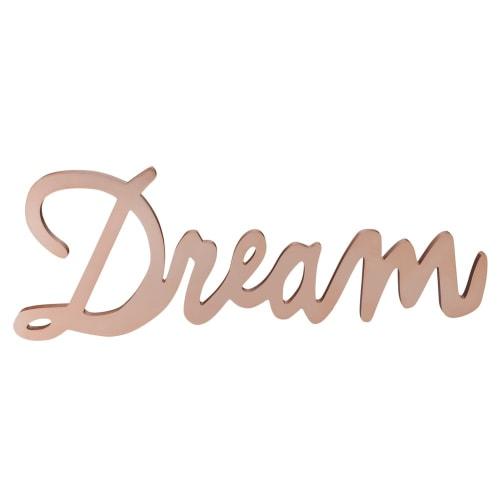 Mot déco murale cuivré 65x23 DREAM | Maisons du Monde