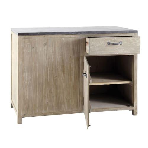 Mueble bajo de cocina de pino reciclado An. 120