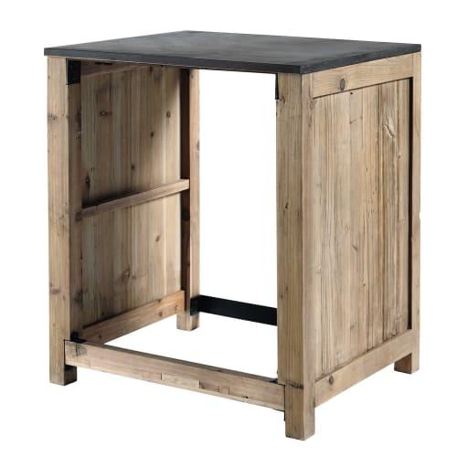 Mueble de cocina de pino reciclado para lavavajillas An. 68