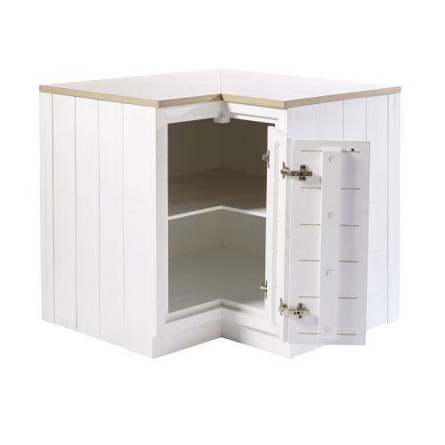 Mueble esquinero de cocina blanco con 1 puerta