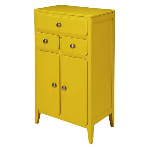 Mustard Yellow 2 Door 3 Drawer Entryway