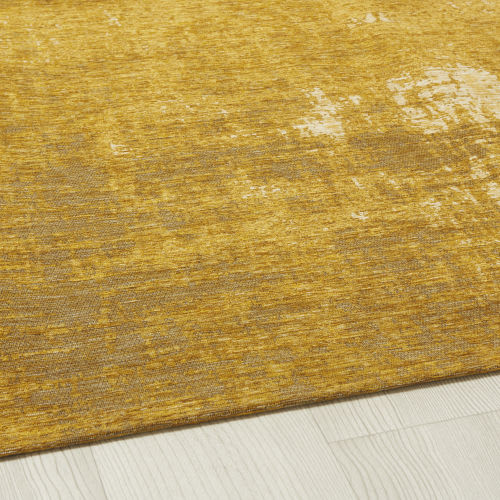 Mustard Yellow Woven Jacquard Rug 200x200