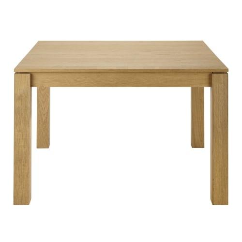 Oak Square Extendible 4 8 Seater Dining Table L120 180 Maisons Du Monde