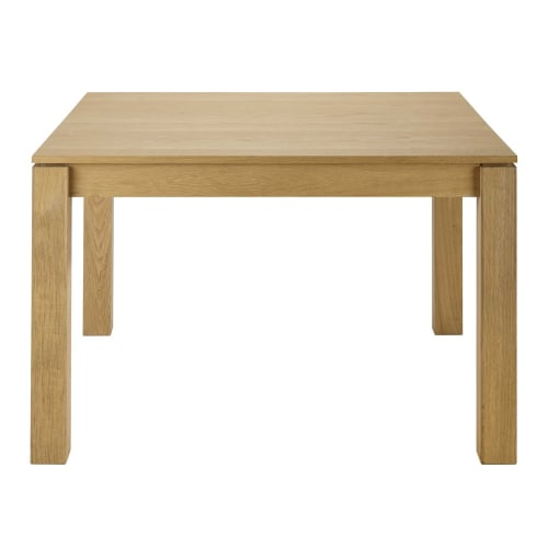 Oak Square Extendible 4 8 Seater Dining Table L120 180 Danube Maisons Du Monde