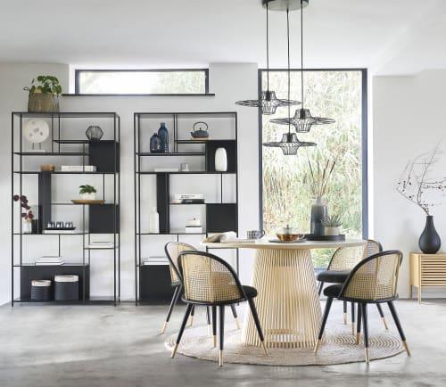 Open Kast Met Vakken Zwart Metaal Simply Maisons Du Monde
