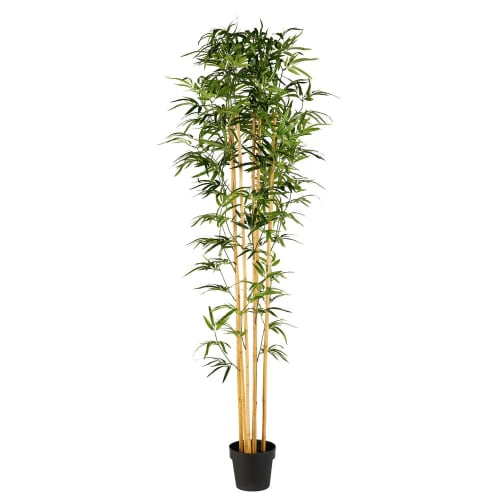 outdoor artificial bamboo plant in pot bayani maisons du monde