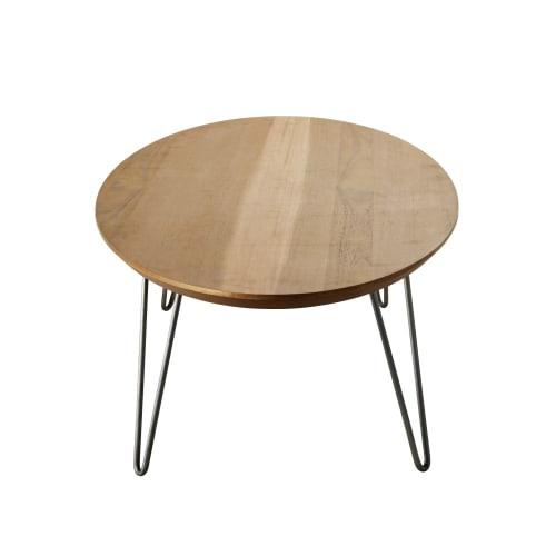 Wonderbaar Ovalen salontafel met grijze metalen poten Luciano   Maisons du Monde GC-22