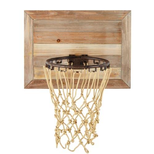 Panier De Basket Mural En Sapin 56x68 Maisons Du Monde