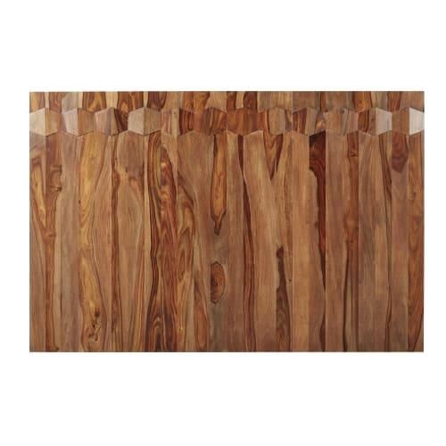 Pannello In Legno Massello Di Sheesham Per Testata Da Letto Da Comporre 60x120 Cm Quadra Business Maisons Du Monde