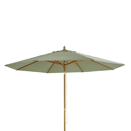 Parasol Inclinable En Aluminium Et Toile Vert Kaki Palma Maisons Du Monde