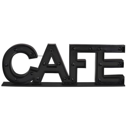 Parola decorativa luminosa nera in metallo 145x45 cm