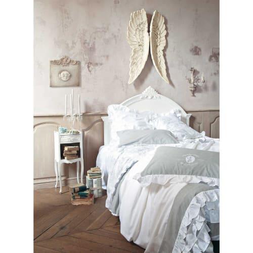 Lenzuola Matrimoniali Maison Du Monde.Parure Da Letto 220 X 240 Cm Bianca In Cotone Raphael Maisons Du