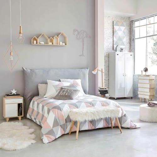 Lenzuola Matrimoniali Maison Du Monde.Parure Da Letto Grafica Multicolore 220x240 Cm Urban Soft