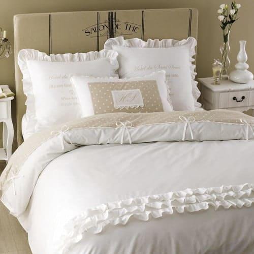 Parure de lit en coton blanche 220x240