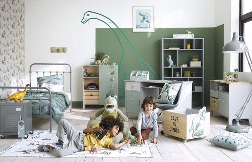 Lit Enfant Maison Du Monde.Parure De Lit Enfant En Coton Vert Kaki Imprime 140x200