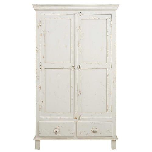 Patinated white mango wood 9-door 9-drawer wardrobe  Maisons du Monde