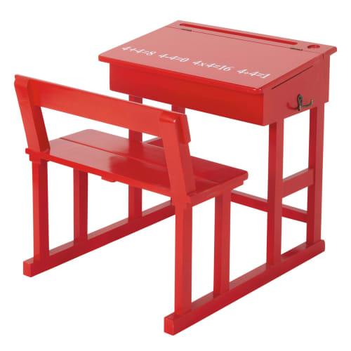 Piccola scrivania rossa per bambini pupitre maisons du monde for Cerco regalo mobili