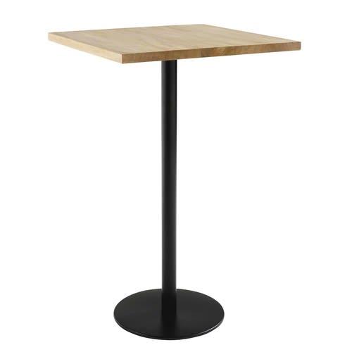 Pieds Pour Table Haute.Pied De Table Haute En Metal Noir H100