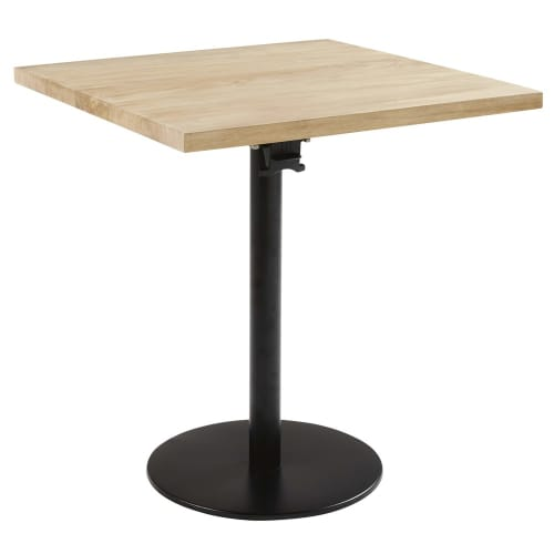 Pied De Table Rabattable En Metal Noir H73
