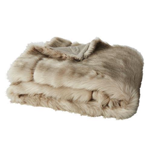 cheaper 78cd0 9be30 Plaid in pelliccia ecologica marron glacé, 150x180 cm