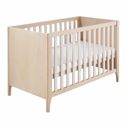 Babybed Aan Bed.Poederroze Babybed Met Spijlen Van Beuk En Grenen 60x120