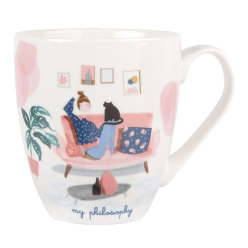 Printed Porcelain Mug  Maisons du Monde