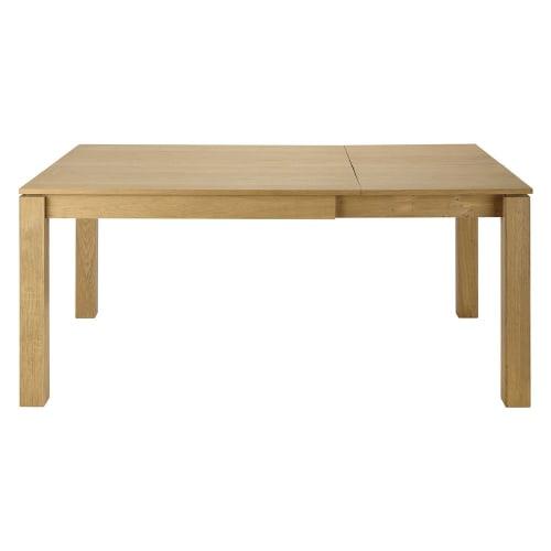 Quadratischer ausziehbarer Esstisch 4 bis 8 Personen aus Eiche L120180 | Maisons du Monde
