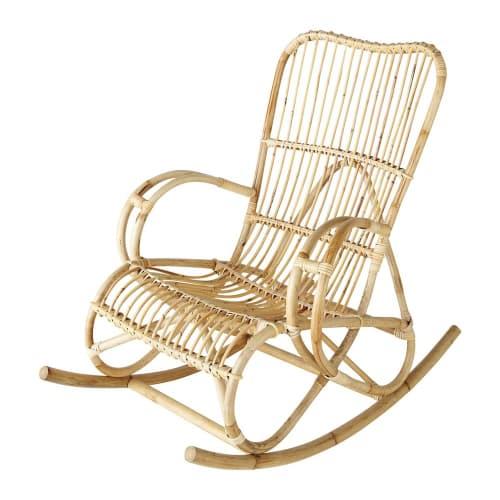 Rattan Rocking Chair Louisiane Maisons Du Monde
