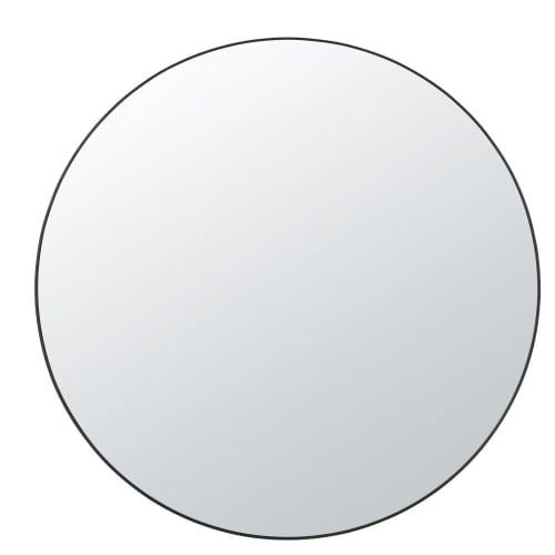 Wonderlijk Ronde spiegel met 2 zwarte metalen rekjes D99 Bryan | Maisons du Monde LP-12
