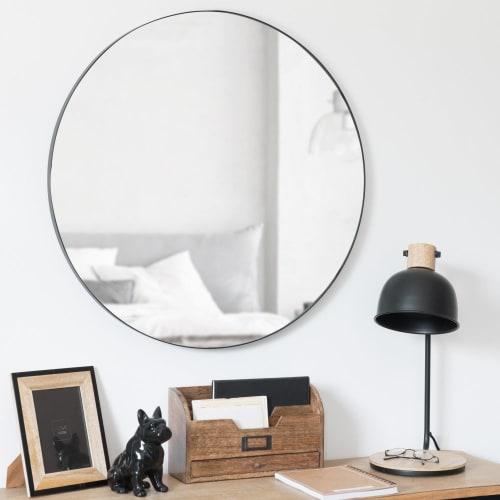 Onwijs Ronde spiegel van zwart metaal D70 Clement | Maisons du Monde EI-03