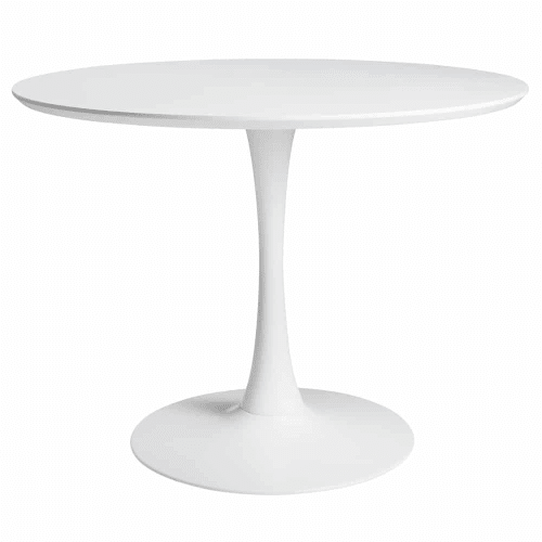 Round Dining Table In White D 100 Cm Circle Maisons Du Monde