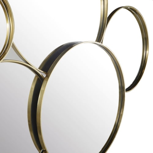 Round Golden Metal Mirrors 113x91 Janis Maisons Du Monde