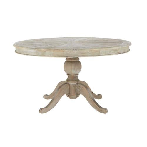 Round Wooden Dining Table D 140cm Maisons Du Monde