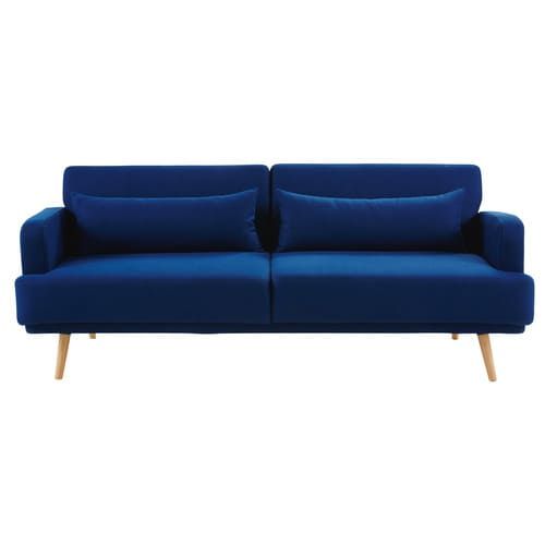 Royal Blue 3 Seater Sofa Bed