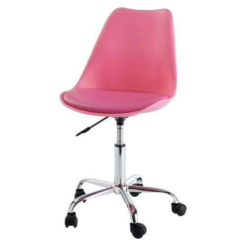 Bureaustoel Kind Roze.Roze Bureaustoel Op Wieltjes Maisons Du Monde