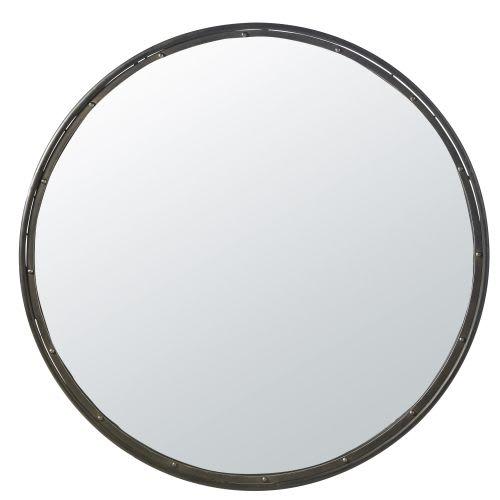 Verbazingwekkend Runder Spiegel mit schwarzem Metallrahmen D.120 Walter | Maisons UQ-18