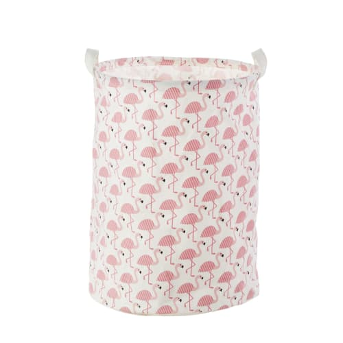 sac de rangement en coton motifs flamant rose flamingo. Black Bedroom Furniture Sets. Home Design Ideas