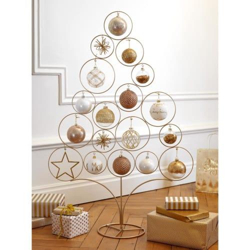 Sapin de Noël en métal doré H95 Modern Copper | Maisons du Monde