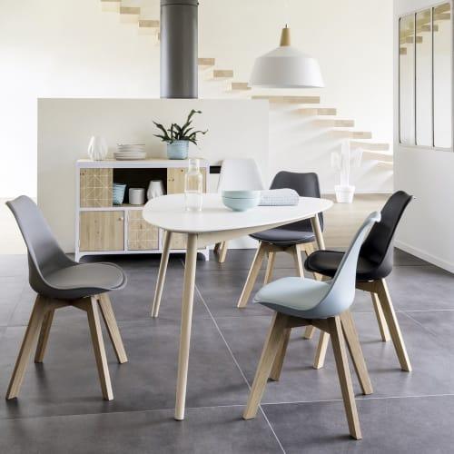 Eetkamer Tafel 4 Personen.Scandinavische Witte Eettafel 4 5 Personen L150 Spring Maisons