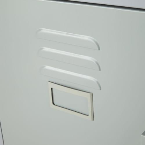 Schreibtisch Mit 1 Schublade Und 1 Tür Aus Metall, Grau