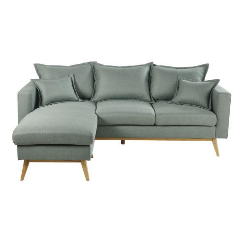 Sea Green 4/5-Seater Scandinavian-Style Corner Sofa