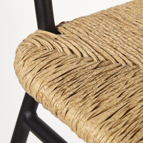 Sedia a dondolo da esterno in resina effetto rattan a tortiglione
