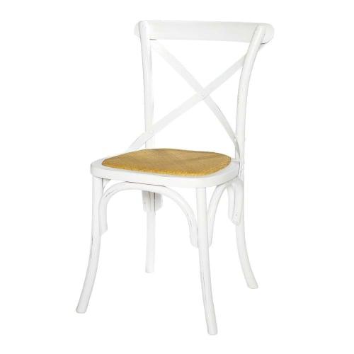 Sedia bistrot in rattan e betulla bianca | Maisons du Monde