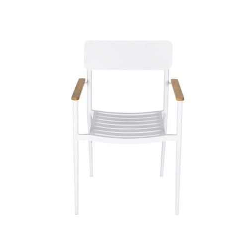 Maison Du Monde Sedie Da Giardino.Sedia Da Giardino Professionale In Alluminio Bianco E Legno Di