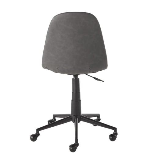 Sedia da ufficio regolabile con ruote color grigio