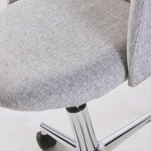 Sedia da ufficio vintage con ruote grigia Mauricette ...