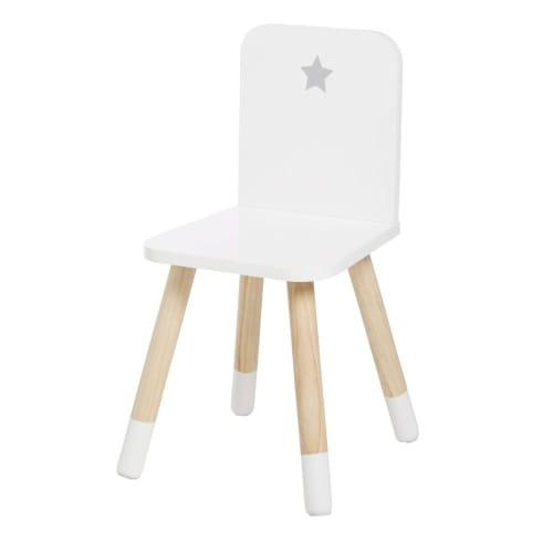 Sedia Fiber, gambe in legno, bianco rovere